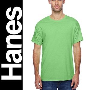 HANES Men's x-temp dry shirt Large neon green